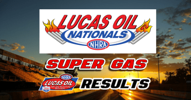 2018 NHRA Lucas Oil Nationals Super Gas Results
