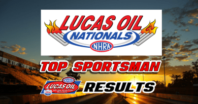 2018 NHRA Lucas Oil Nationals Top Sportsman Results