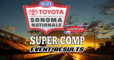 2018 NHRA Sonoma National Event Super Comp Results