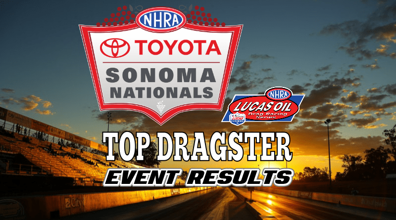 2018 NHRA Sonoma National Event Top Dragster Results