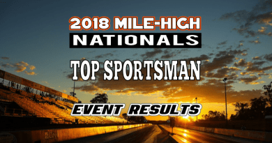 NHRA Mile High National Event Top Sportsman Results