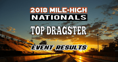 NHRA Mile High National Top Dragster Results