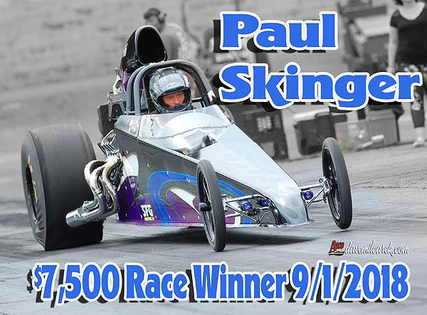 Paul Skinger 7500 Race Winner 9-1-18