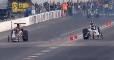 Super Comp Dragsters Nearly Crash Video from AAAMidwest Nationals St Louis