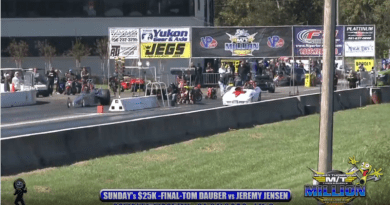 2018 the million dollar drag race Sunday 25k final round Tom Dauber vs jeremy jensen 3