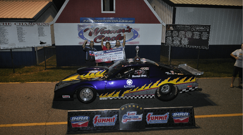 Jeff Bowman $5k winner ihra at farmington