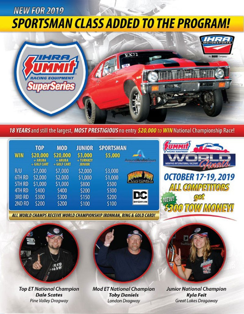 2019 IHRA Summit SuperSeries flyer