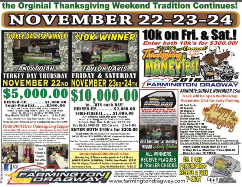 Farmington Thanksgiving Money Fest Nov 22-23 event flyer