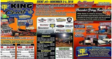Gulfport Dragway King of the Coast Nov 2-4