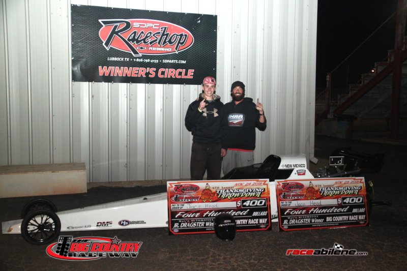 Jace Head Saturday Jr Dragster Winner Big Country Raceway 11.24.18