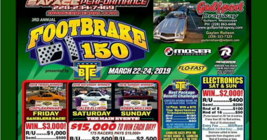 Gulfport Dragway BTE Footbrake 150 March 22-24