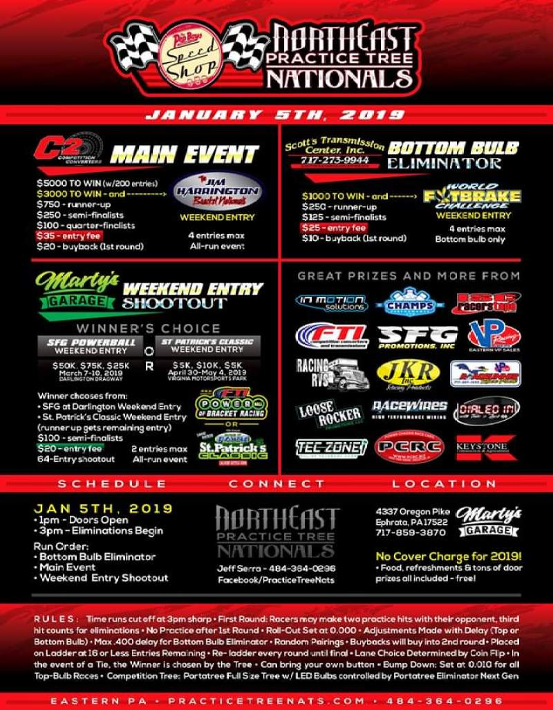 2019 Northeast Practice Tree Nationals Flyer