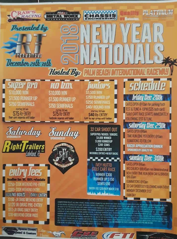 Palm Beach New Year Nationals Dec 29-30 2018