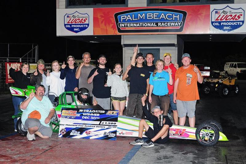 Caraline McCarty Sunday PBIR New Year Nationals Jr Dragster Winner 12-30-18