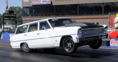 Chevy Nova Wagon drag car summit motorsports park