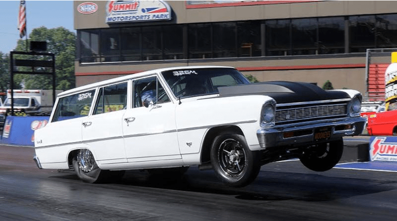 Chevy Nova Wagon drag car summit motorsports park