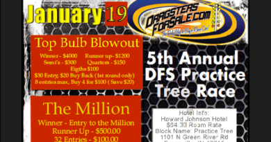 Dragsters for Sale Practice Tree Race 2019