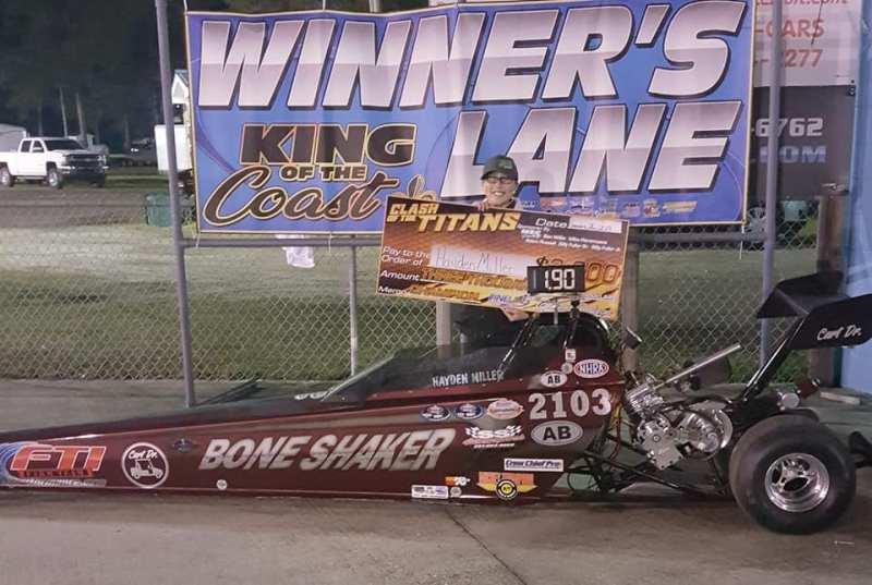 Hayden Miller KOC Clash of the Titans jr dragster winner 012619