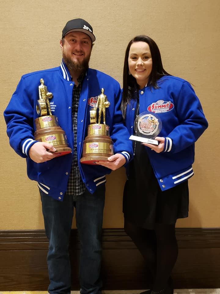 Jake and Michelle Howard at the NHRA Division 4 Awards Banquet