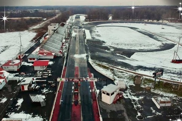 Lancaster Dragway aerial view