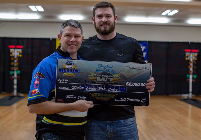 james west million dollar entry winner 2019 dragstersforsalecom practice tree race