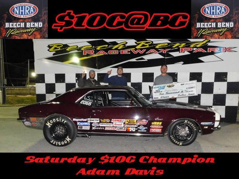 Adam Davis Saturday 10G at BG Winner