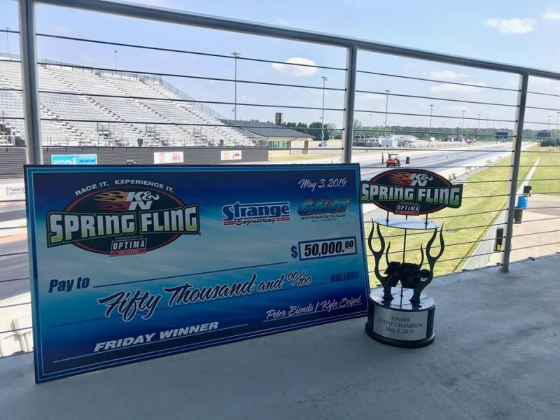 Spring Fling GALOT 50K check and trophy