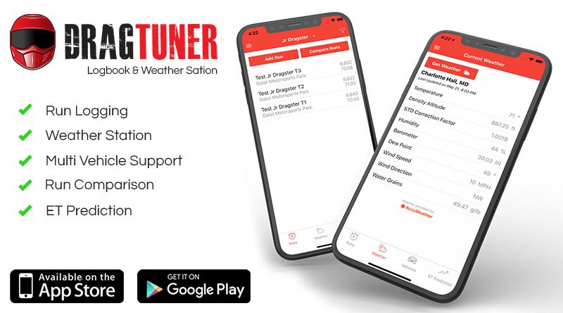 DragTuner Mobile Logbook App