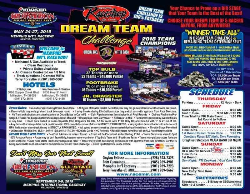 Great American Bracket Race Flyer 2