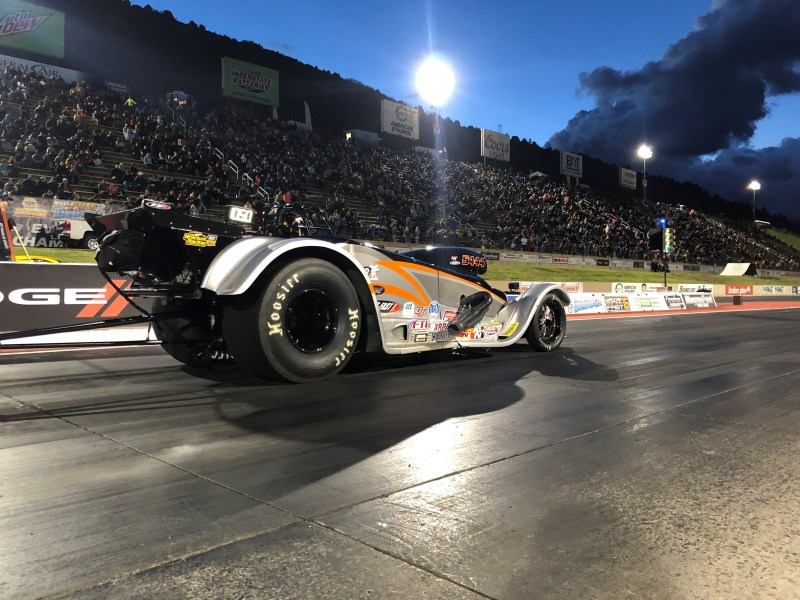 kris whitfield super gas roadster bandimere night of fire