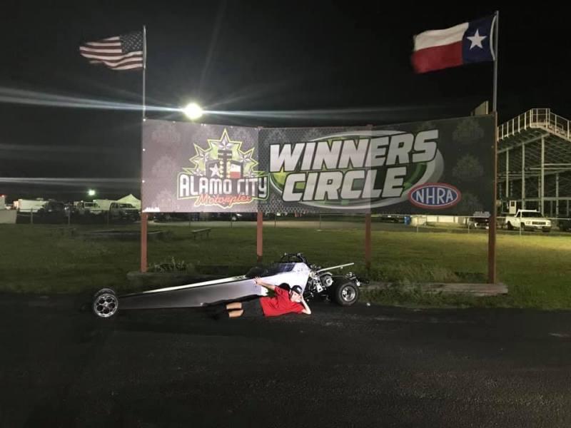 ACM Race 4 jr dragster Winner Kayden Ashmore
