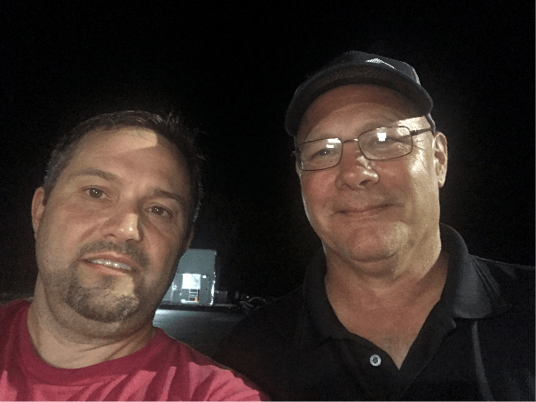 Gary Don with Jay Holmes at Alamo City Motorplex 6-15-19