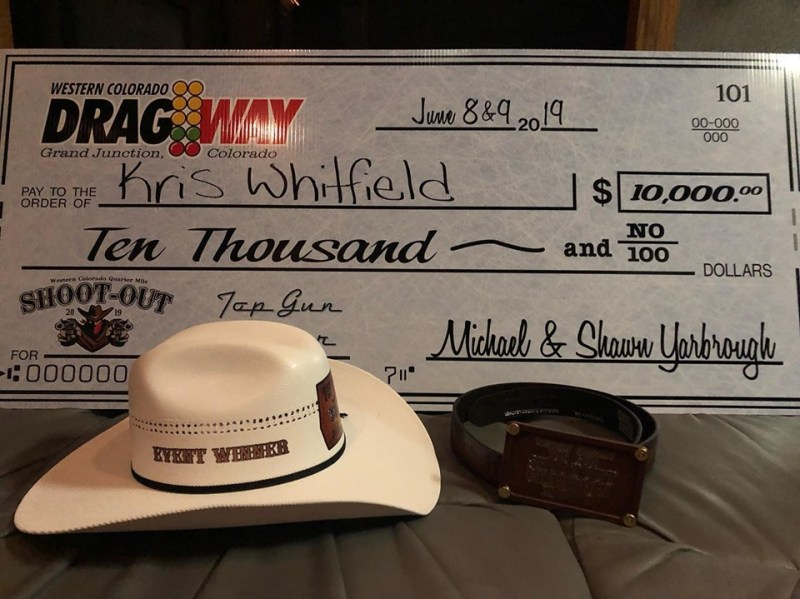 Kris Whitfield Top Gun winner