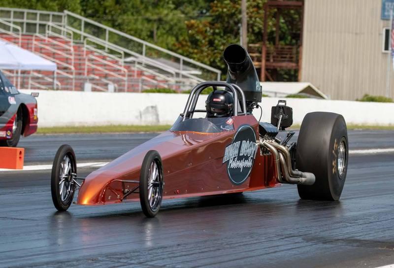 Shane Carr 10k winner in Kick Booty car at Carolina Dragway