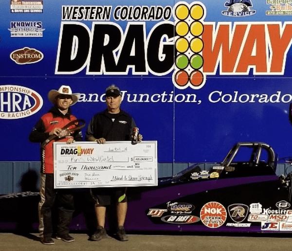 Western Colorado Dragway shootout winner Kris Whitfield