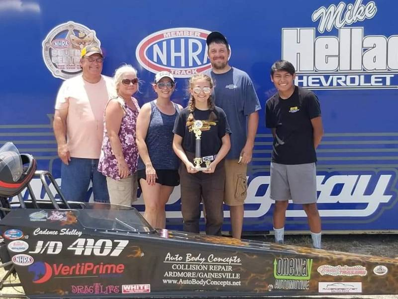 Cadence Shelley Ardmore Dragway dragchamp top 10 list