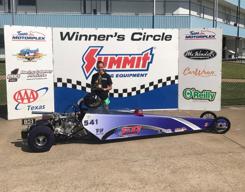 Lauren Dodd Texas Motorplex winner