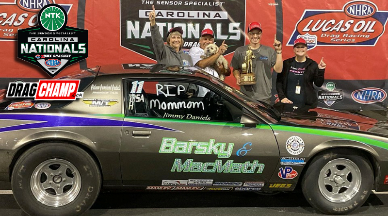 Jimmy Daniels wins Stock at Carolina Nationals