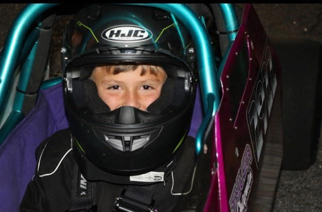 Tyler Chapman junior dragster