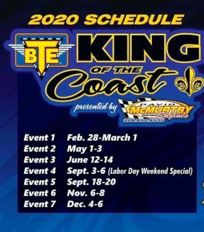 2020 King of the Coast Schedule