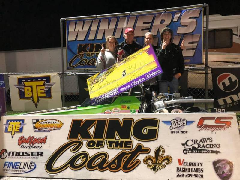 Aaron Kinsey 13-17 jr dragster winner ben franklin