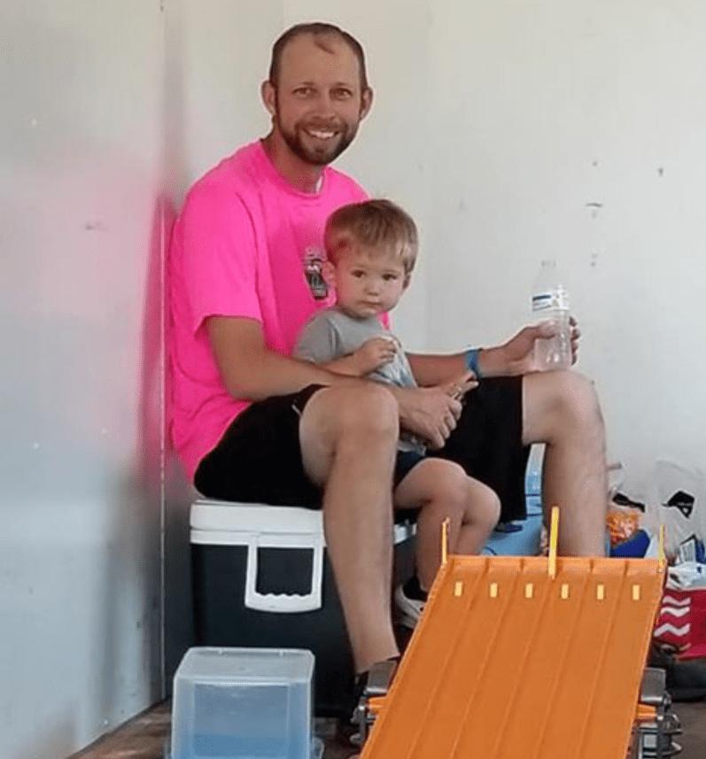 Steve Foley with son