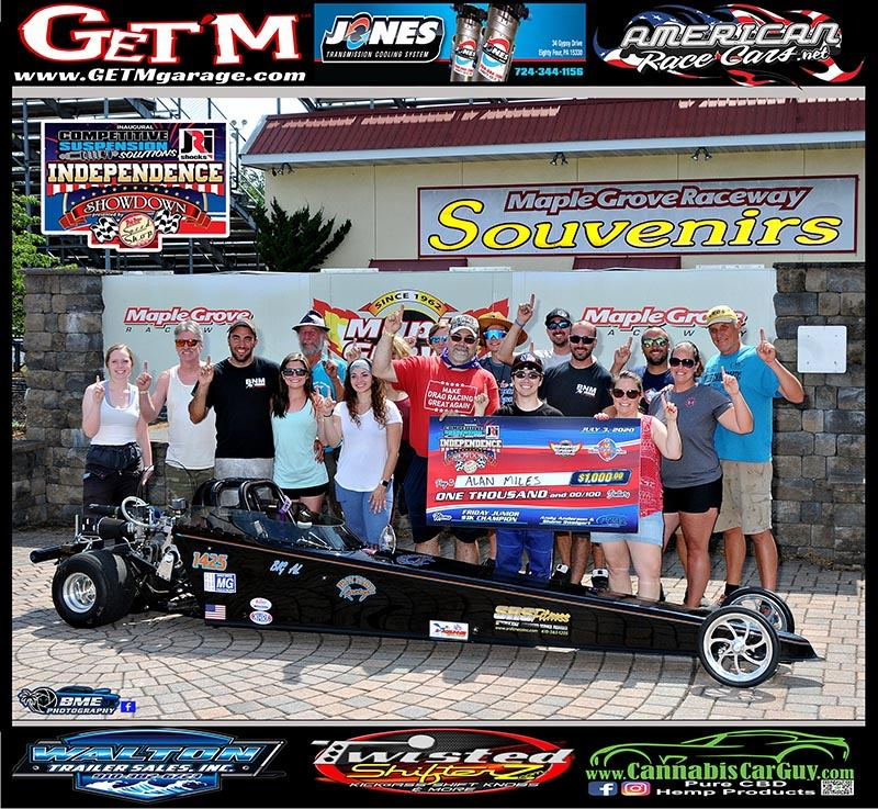 friday junior dragster winner alan miles independence showdown