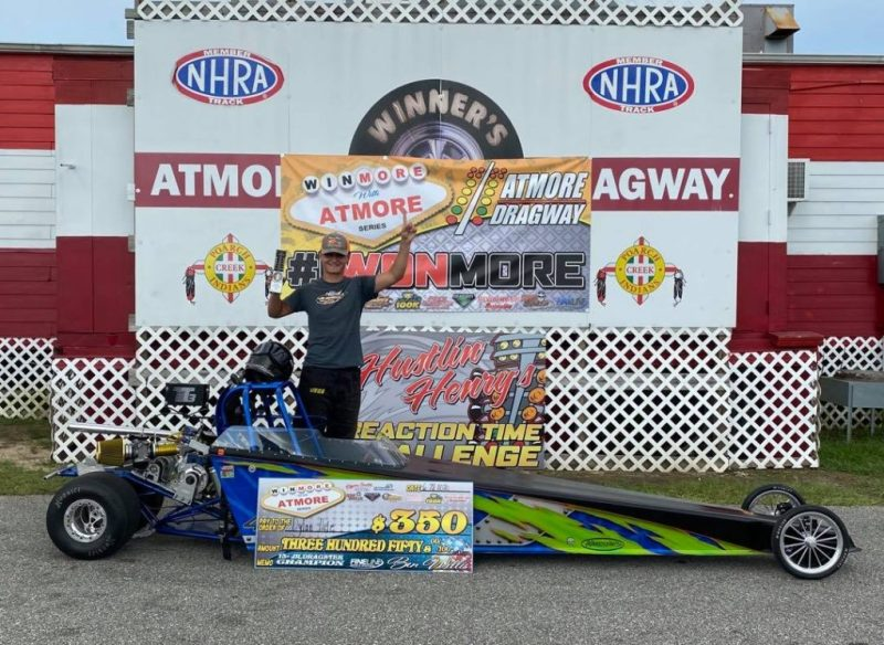 winmore with atmore 13 and up junior dragster winner dylan hite