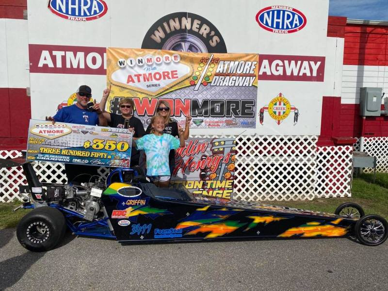 winmore with atmore 13 and up junior dragster winner griffin hatcher
