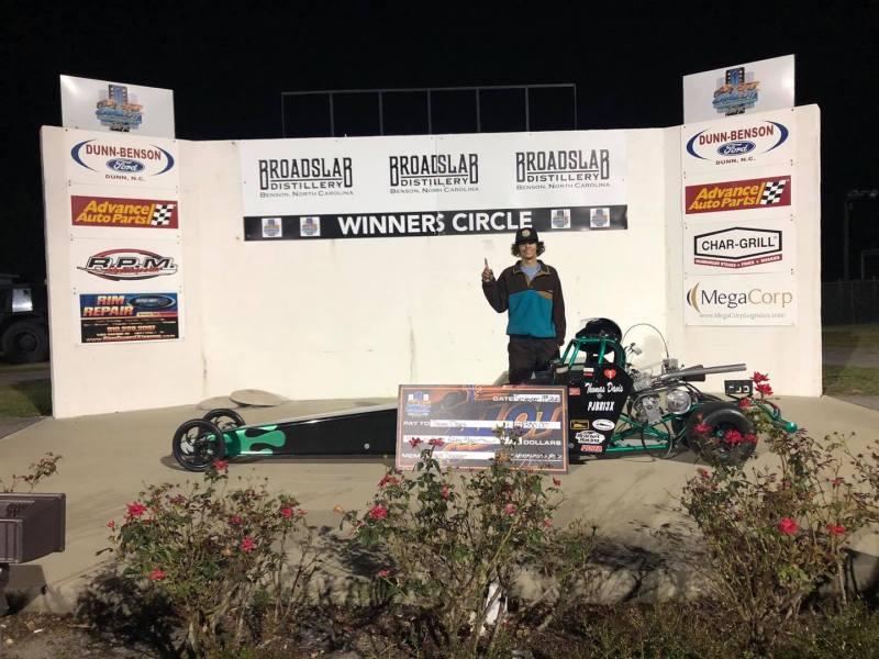 thomas davis saturday jr dragster winner galot