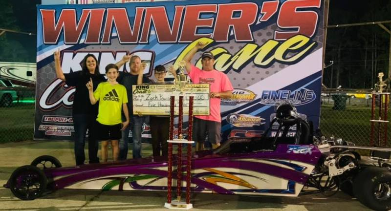 Zach Pearce 10-12 junior dragster winner sunday