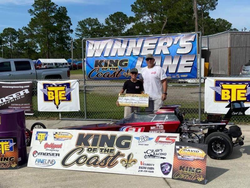 Hayden Miller 10-12 junior dragster Champion