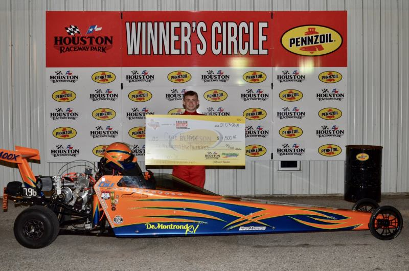 Cole Foster junior dragster winner sunday