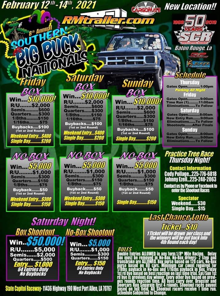 2021 southern big buck nationals flyer